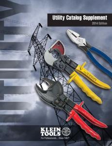 Utility Catalog Supplement 2014 Edition