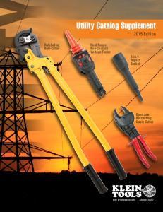 Utility Catalog Supplement 2015 Edition