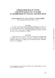 UTILIZACION DE LOS MAPAS CONCEPTUALES EN EL ANALISIS Y COMPRENSION DE TEXTOS CIENTIFICOS (1)