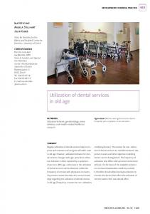Utilization of dental services in old age