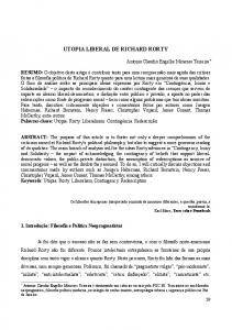UTOPIA LIBERAL DE RICHARD RORTY