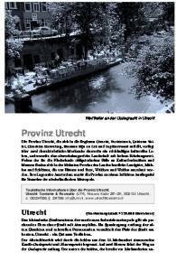 Utrecht. Provinz Utrecht. Utrecht 109. Karte Seite 111