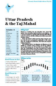 Uttar Pradesh & the Taj Mahal