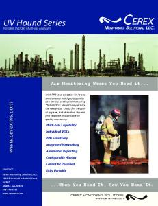UV Hound Series.  Air Monitoring Where You Need it When You Need It, How You Need It. Portable UVDOAS Mul gas Analyzers