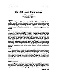 UV LED Lens Technology