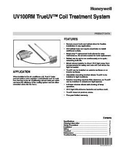 UV100RM TrueUV Coil Treatment System
