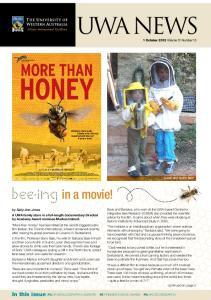 UWA NEWS 1 October 2012 Volume 31 Number 15
