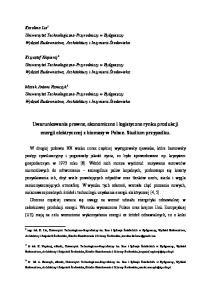 Uwarunkowania prawne, ekonomiczne i logistyczne rynku produkcji energii elektrycznej z biomasy w Polsce. Studium przypadku