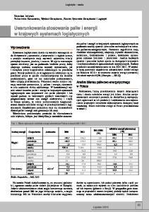 Uwarunkowania stosowania paliw i energii w krajowych systemach logistycznych