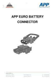 V APP EURO BATTERY CONNECTOR