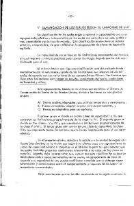 V CLASIFICACION DE LOS SUELOS SEGUN SU CAPACIDAD DE USO