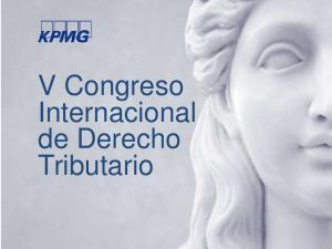 V Congreso Internacional de Derecho Tributario