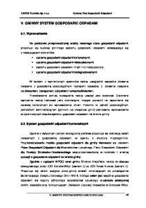 V. GMINNY SYSTEM GOSPODARKI ODPADAMI