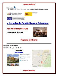 V Jornadas de Español Lengua Extranjera