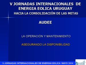 V JORNADAS INTERNACIONALES DE ENERGIA EOLICA URUGUAY AUDEE