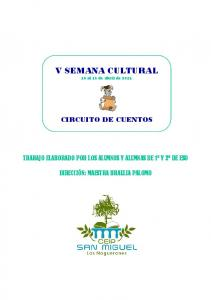 V SEMANA CULTURAL 18 al 16 de abril de 2013