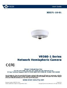 V Series Network Hemispheric Camera