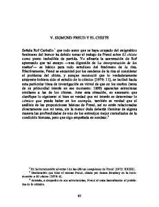 V. SIGMUND FREUD Y EL CHISTE