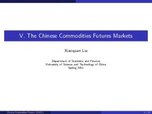 V. The Chinese Commodities Futures Markets