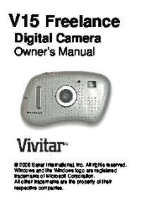 V15 Freelance Digital Camera Owner s Manual