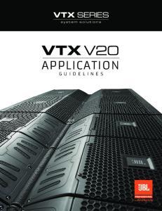 V20 APPLICATION GUIDELINES