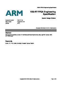 V2S-R7 FPGA Engineering Specification