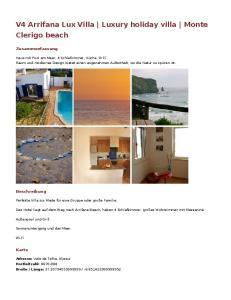 V4 Arrifana Lux Villa Luxury holiday villa Monte Clerigo beach