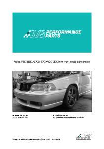 V70 320mm front brake conversion