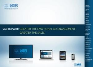 VAB REPORT: GREATER THE EMOTIONAL AD ENGAGEMENT - GREATER THE SALES