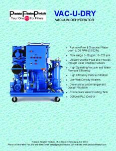 VAC-U-DRY VACUUM DEHYDRATOR