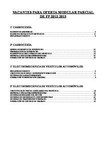 VACANTES PARA OFERTA MODULAR PARCIAL DE FP
