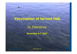 Vaccination of farmed fish
