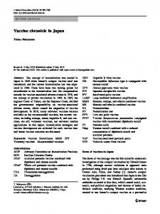 Vaccine chronicle in Japan