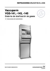 Vaccuperm VGS-141, -143, -145