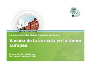 Vacuna de la varicela en la Union Europea