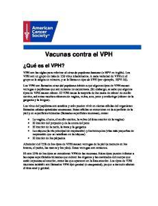 Vacunas contra el VPH