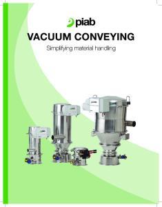 Vacuum conveying. Simplifying material handling