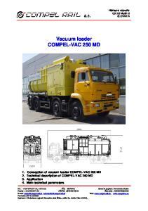 Vacuum loader COMPEL-VAC 250 MD