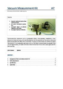 Vacuum Measurement Kit