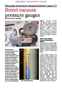 vacuum pressure gauges,