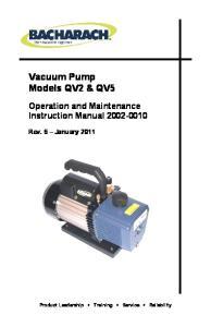 Vacuum Pump Models QV2 & QV5