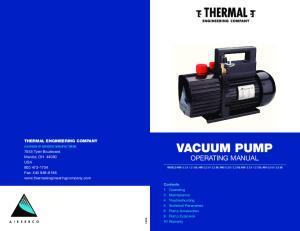 VACUUM PUMP Operating manual