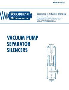 VACUUM PUMP SEPARATOR SILENCERS