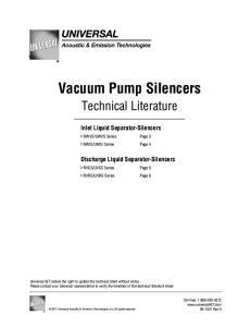 Vacuum Pump Silencers