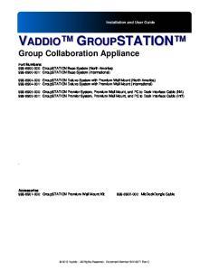 VADDIO GROUPSTATION Group Collaboration Appliance