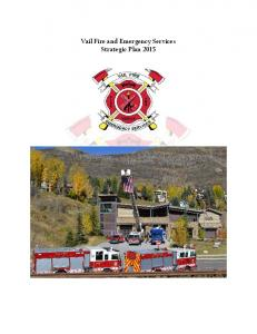 Vail Fire and Emergency Services Strategic Plan 2015