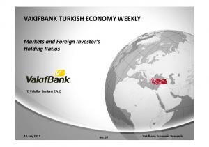 VAKIFBANK TURKISH ECONOMY WEEKLY