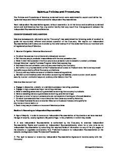 Valentus Policies and Procedures