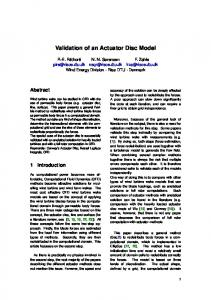 Validation of an Actuator Disc Model