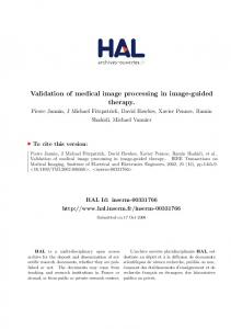 Validation of medical image processing in image-guided therapy